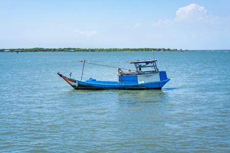 Fish ship in sea