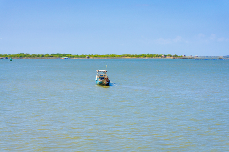 ange: The fish ship anchor on beach