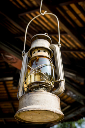 Old fashioned oil lamp Stock Photo