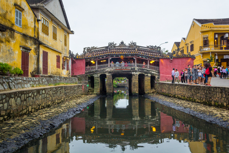 The bridge in Hoi An Vietnam Editorial