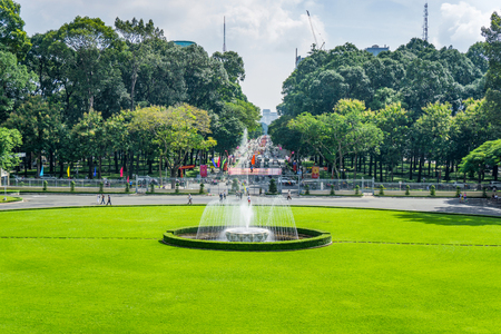 Garden Of Independence Palace In Ho Chi Minh Vietnam Stock Photo ...