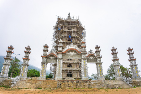 The tower of pagoda buiding unfinish Editorial