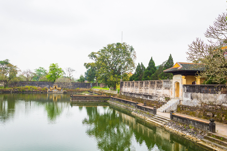 The lake in Hue imperial city Stock Photo