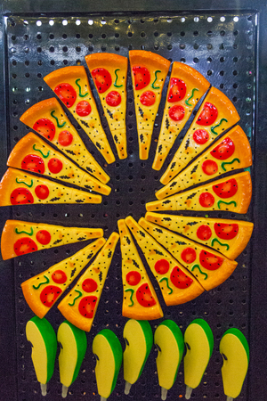 Pizza food made by plastic Stock Photo