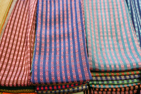 Colorful of scarves