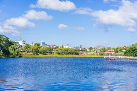 loc: The lake in Bao Loc city Vietnam