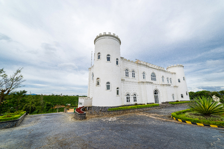 White castle in Da Lat Vietnam