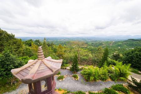 loc: Landscape of pagoda in Bao Loc Vietnam Stock Photo