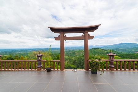 loc: The sky gate in pagoda Stock Photo