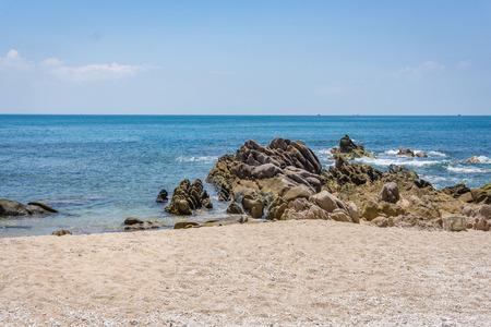 cu: Coastline in Cu Lao Xanh island Qui Nhon Vietnam Stock Photo