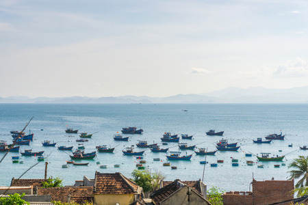 cu: Village in Cu Lao Xanh island Qui Nhon Vietnam Stock Photo