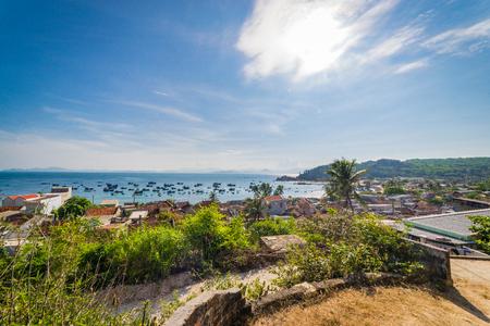 The fish village in Cu Lao Xanh island Qui Nhon Vietnam