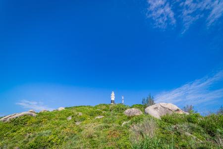 cu: Lighthouse in Cu Lao Xanh island Qui Nhon Vietnam