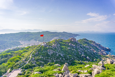 cu: The high angle view of Cu Lao Xanh island Qui Nhon Vietnam Stock Photo