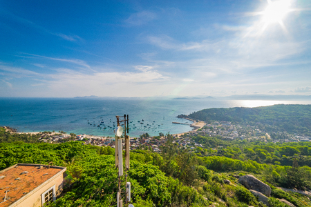 Beautiful landscape of Cu Lao Xanh island Qui Nhon Vietnam