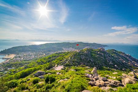 cu: Beautiful of landscape in Cu Lao Xanh island Qui Nhon Vietnam Stock Photo