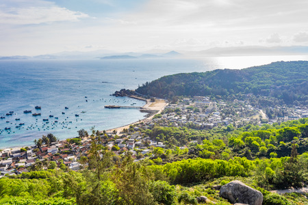 cu: High angle view of Cu Lao Xanh island Qui Nhon Viet Nam Stock Photo