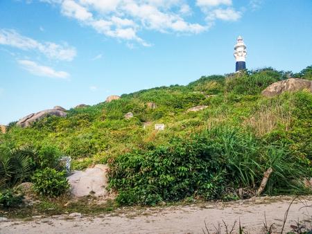 cu: Lighthouse at Cu Lao Xanh island in Qui Nhon Viet Nam