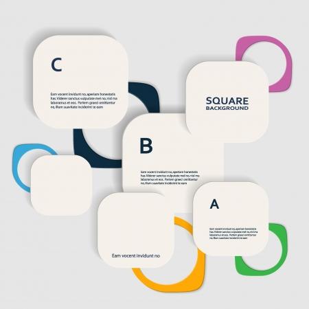 vector squares Illustration