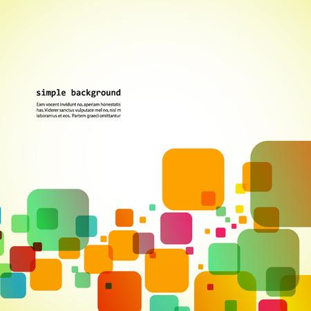colored squares Ilustrace