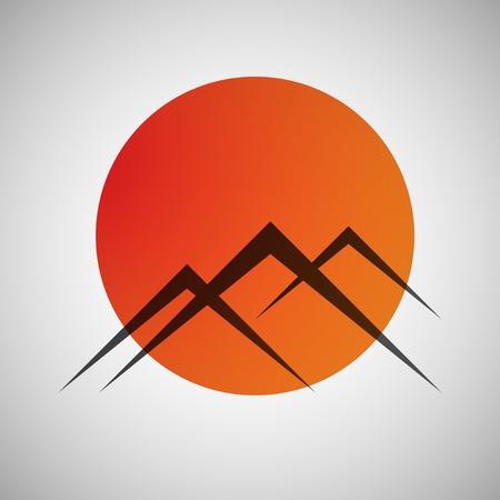 mountains icon Ilustrace