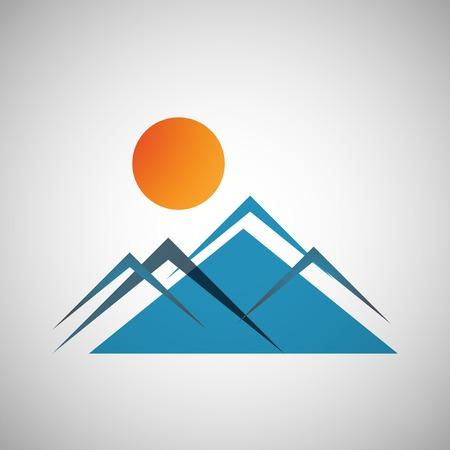 mountains icon Illustration