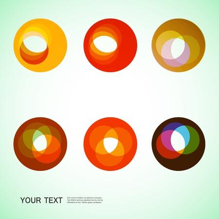 abstracte vormen: round abstract forms Stock Illustratie