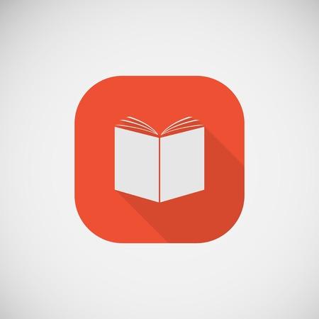 Icon of an open book Vector