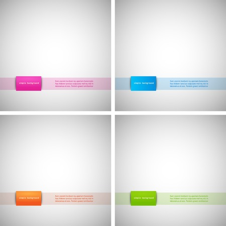 Set of simple backgrounds with colored Vector