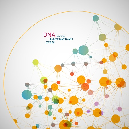 life science: DNA background Illustration
