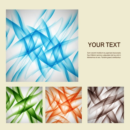 Set of abstract line background