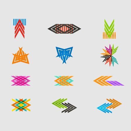 arrowheads: Arrow sign icon set Illustration