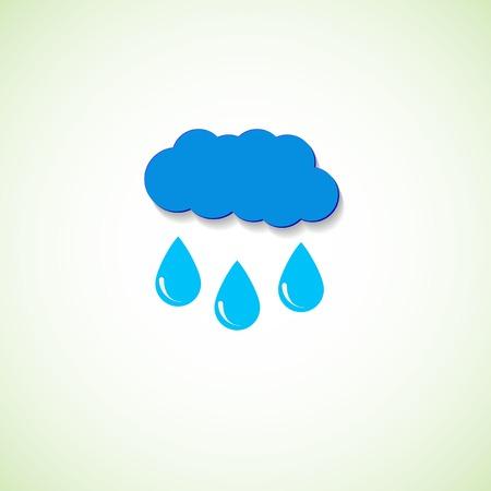 precipitation: Cloud and raindrops