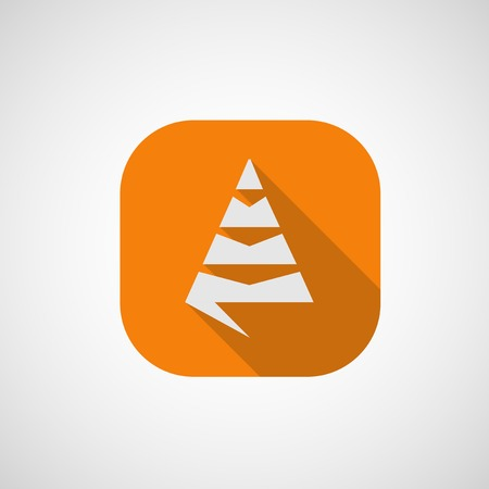 Icon of a coniferous tree Vector