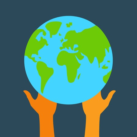 globe and hands  Vector