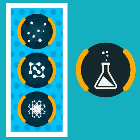 Set icons chemical experiments Vector
