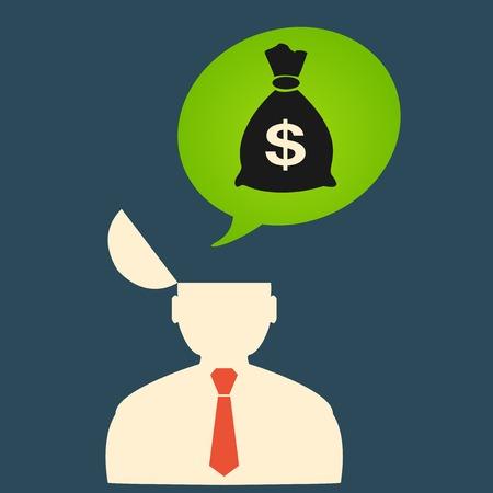 avarice: Man thinks about big money