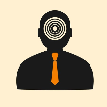 range fruit: Stock target in the form of man Illustration