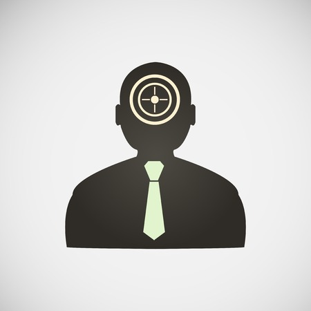 Stock target in the form of man. Vector