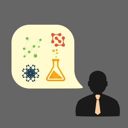 icons man chemical experiments  Vector