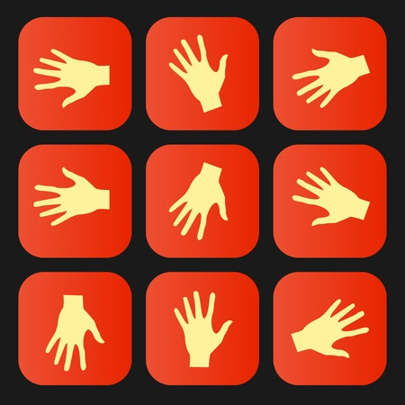 Set of vector flat icon hands eps Vector