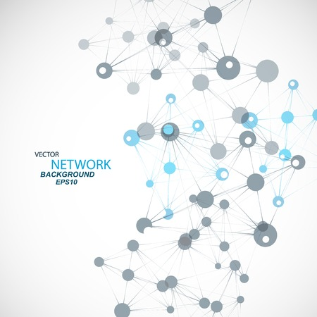 Vector network connection and DNA  Illustration
