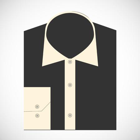 v�tements pli�s: Couleur pli� t-shirt avec le concept de conception de badge