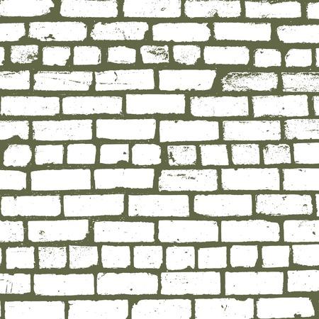 background of old brickwork design Illustration