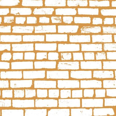 brickwork: background of old brickwork design Illustration