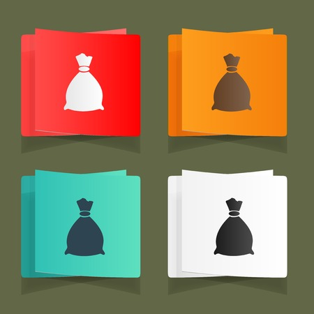 Set of vintage bags for storage eps Vector