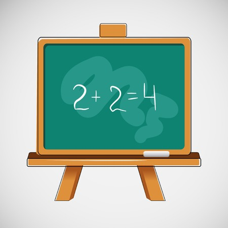 Simple black board with written numbers