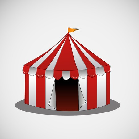 marquees: circus tent on a bright background Illustration