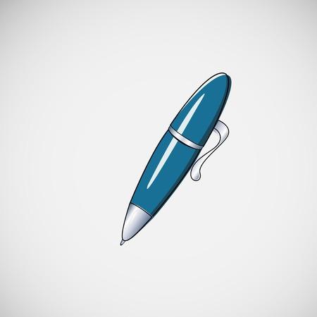 ballpoint pen on light background