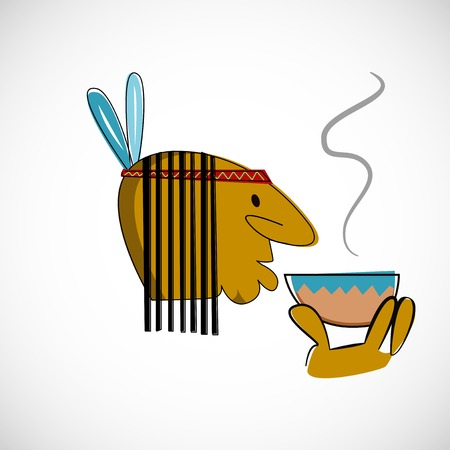 brown skin: Indian head with brown skin Illustration